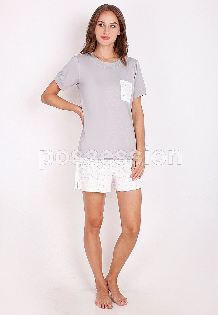 Impression Pajamas Set 8235 GY-Bintang